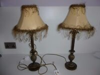Two shabby chic lamps.