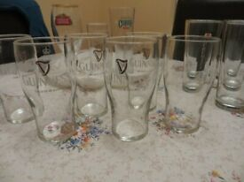 Various Good Quality Branded Pint Beer Glasses.