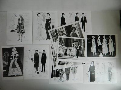 Skizze Kostüm Designer Max Bignens Opera Goldenehochzeit Figaro - Kostüm Design Skizzen