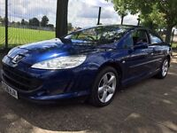 Peugeot 407 Coupe 2.2 Petrol 56-reg 6 Speed Manual Fully Loaded Sat Nav Heated Seats P/x Welcome