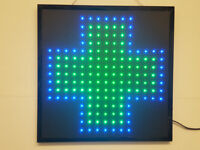 LED Flashing Pharmacy Chemist sign for shop business door hanging window