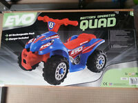 Kids Ride On - Evo Quad Bike Electric Ride-On, Blue & Red. New in Box £20.00