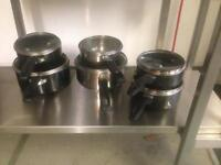Saucepans are used but in perfect condition a
