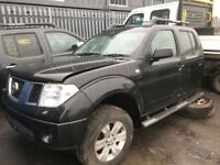 Nissan navara diesel spare parts available rear axel tow bar rear bumper wheel roof bars