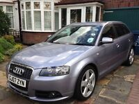 Audi A3 2.0 TDI S Line Sportsback S Tronic Automatic, High spec, low mileage,Alloys & Leather seats