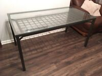 Ikea Dining Table (Glass and Metal)