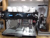 Expobar Rosetta 2 group espresso coffee machine with grinder knock out box and water filter