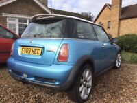 Mini cooper s 2003 in good condition swap for road legal buggy
