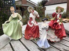 4 x Royal Doulton figures