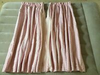 Laura Ashley Fully Interlined Pink Gingham Curtains