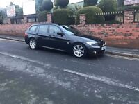 BMW 320d 2010 fully loaded M Sport Estate 18inch alloys Mot+ and Half leather black interior