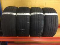 Part worn tyres between 5mm-8mm variety of sizes