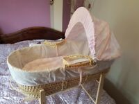 moses basket with stand , cot baby bed