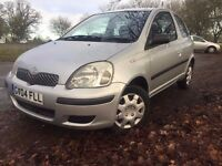 2004 Toyota Yaris 1.0 T3,Petrol, Warranted low Mileage 75K, Fresh 12 Months M.O.T,Low Tax & Ins**