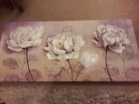Flower print canvas style