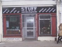 Lock up shop to rent, near city centre, £75 per week. No business rates