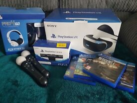 PS4 VR headset plus extras