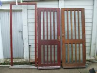 Two HARD WOOD Doors and one Door Frame