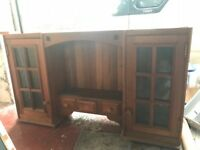Hard wood kitchen units