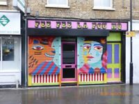 2 metallic manual roll up shutters doors for retail shop display n16 8jn can resize to fit