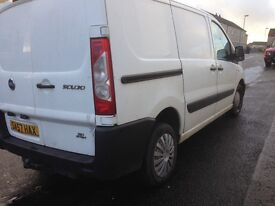 Fiat scudo 6 seater crew van for swap