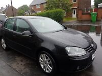 2004 VOLKSWAGEN GOLF 2.0 FSI GT. BLACK MANUAL.