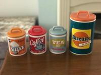 Vintage inspired ceramic canisters