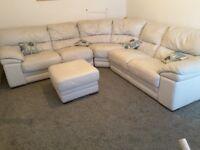 Corner sofa leather