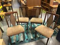 Vintage mid century dining chairs set of four