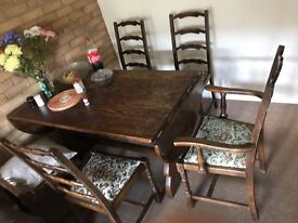 Dinning Table with six Chaires