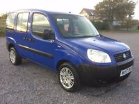 FIAT DOBLO 1.3 DIESEL DISABLED WHEELCHAIR ADAPTED WAV MPV 5 SEAT ESTATE LOW MILEAGE 64K FSH PX