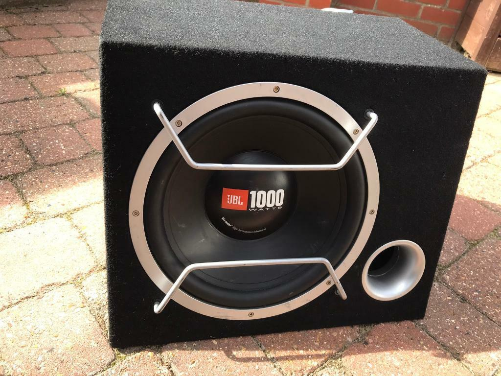 JBL car subwoofer and amplifier - boom box - used - good condition | in  Ipswich, Suffolk | Gumtree