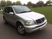 MERCEDES-BENZ ML350 3.7 AUTO PETROL FULL HISTORY FULL HEATED LEATHERS 1 FORMER OWNER LOW MILEAGE