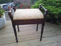 Lovely Vintage Piano Stool with under Seat Storage
