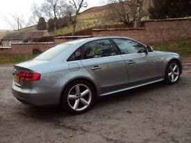 2008 08 AUDI A4 TFSI S-LINE. STUNNING ONE OWNER CAR WITH FULL HISTORY,LONG MOT AND LOW MILEAGE