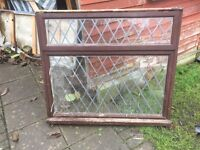 Job lot of traditional timber windows / doors / sidelights in dark wood FREE FREE FREE