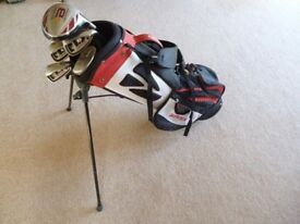 Tailor Made Junior / children Golf Clubs with Bag and stand Age 8 - 10 approx - Excellent
