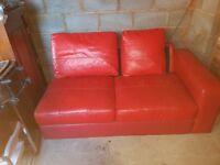Italian Leather Settee for sale