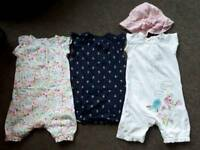 Playsuits with poppers 12-18 months