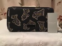 BRAND NEW RADLEY KENWOOD LARGE ZIP AROUND OILSKIN WALLET PURSE.