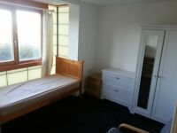 furnished room in house share, clean & quiet & tidy, fast wifi, working people, £75p/w all bills inc