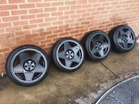 3SDM 0.05 wheels 5x100 near new tyres