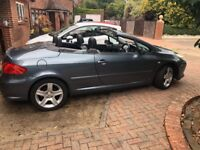 PEUGEOT 307 cc convertible SE HDI 2 LITRE 136 BHP LOW MILLAGE ONLY 33000 LADY OWNER