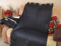 black curtains from smoke +pet free home as new,+2 lightshades,sell separately or job lot,bargain