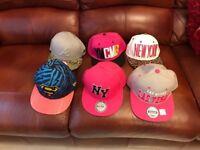 Girls baseball caps