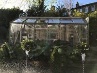 Greenhouse with aliminium frame, free to a loving home if dismantled and taken away