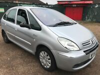 Citroen Xsara Picasso Exclusive HDI 1560cc Turbo Diesel 5 speed manual 5 seat Estate 54 Plate 2004