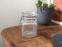 11x NEW Mini Glass Storage Jars for Preserves