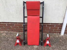 Sealey VS2002 Ratchet Type Axle Stands (Pair) 2tonne Capacity per Stand