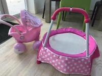 Toddler Pushchair & Trampoline
